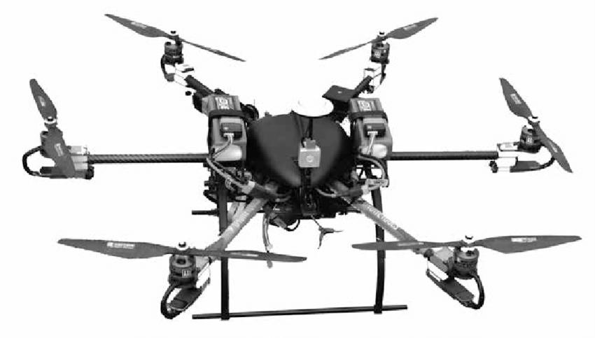 Hexacóptero dron ideal para tareas lejanas o pesadas.